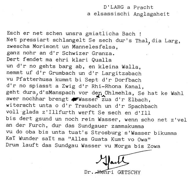 Poème Goetschy